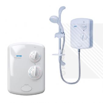 Triton Alicante Electric Shower White/Chrome 8.5kW AGC